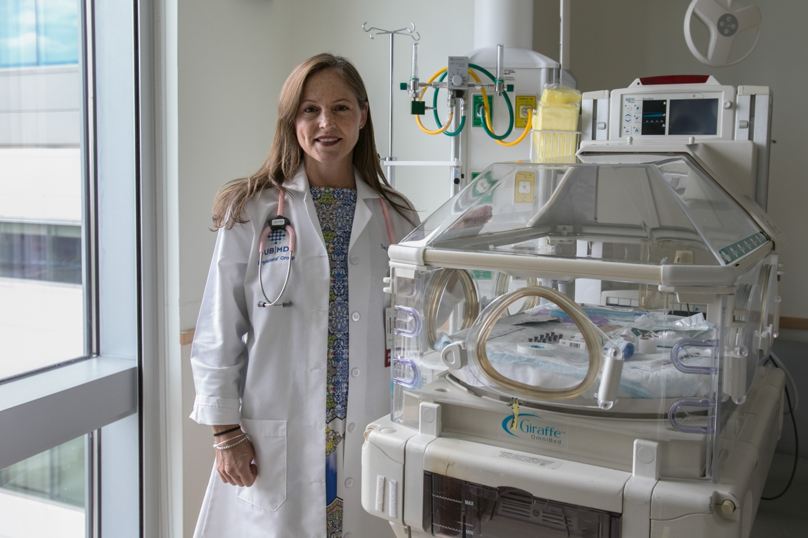 Dr. Sara K. Berkelhamer is an attending physician for neonatology and director of respiratory therapy at the John R. Oishei Children's Hospital in Buffalo, N.Y.