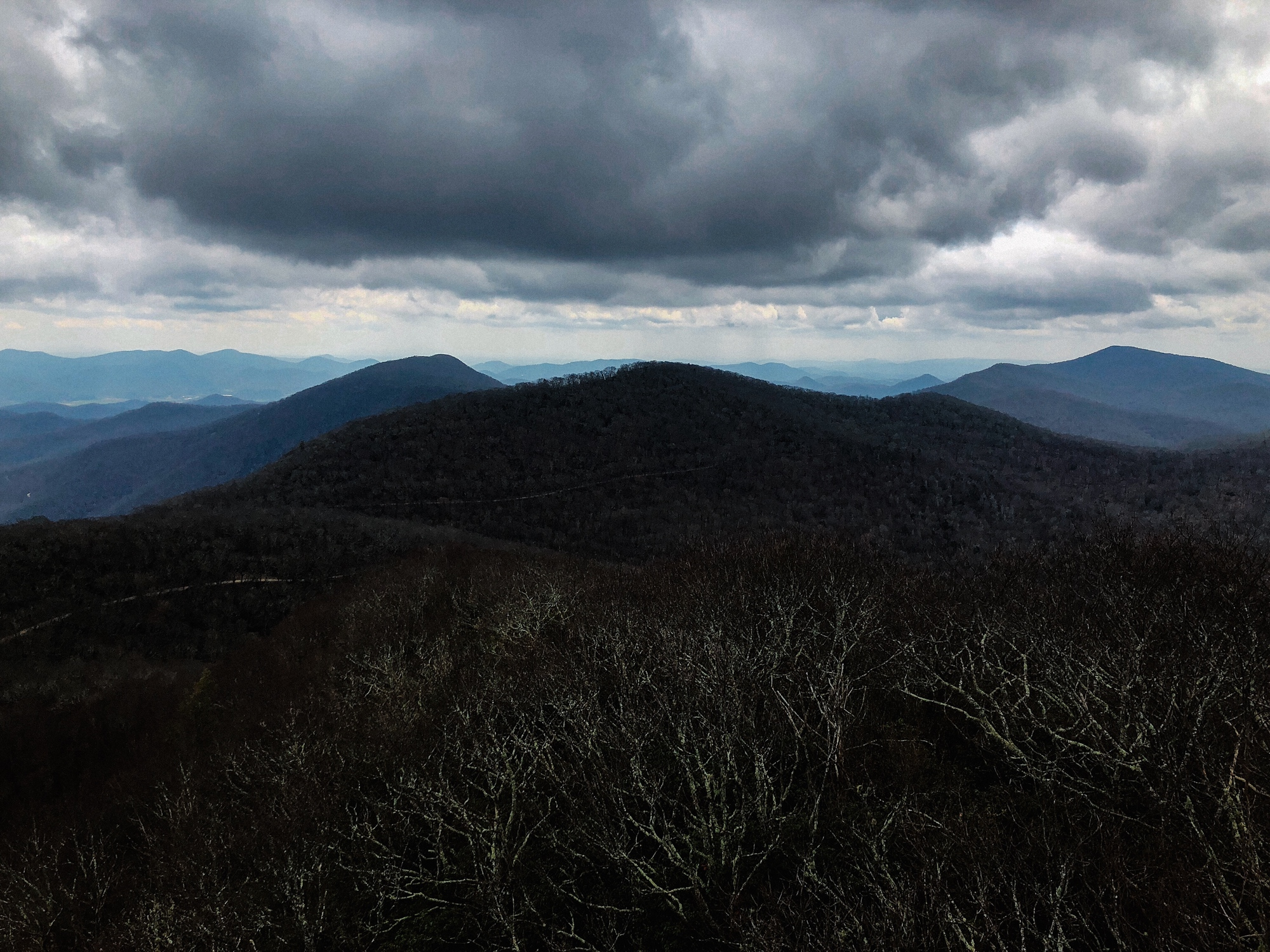 From the Albert Mountain fire tower, North Carolina, Appalachian Trail 2018