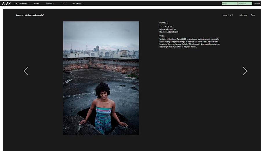 Finalista do prêmio AI-AP Latin America Fotografia 5 com o trabalho 'Territórios da Resistência' (2016) / Shortlist AI-AP Latin America Fotografia 5 with the essay 'Territories in Resistance' (2016)
