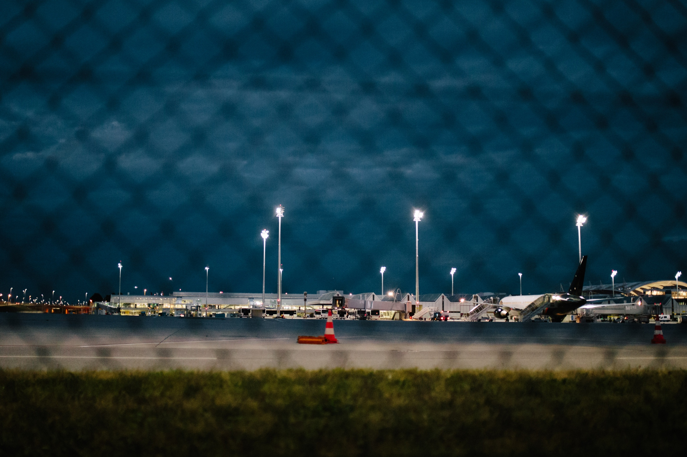 View on the airfield of Munich airport. August 14th, 2018.