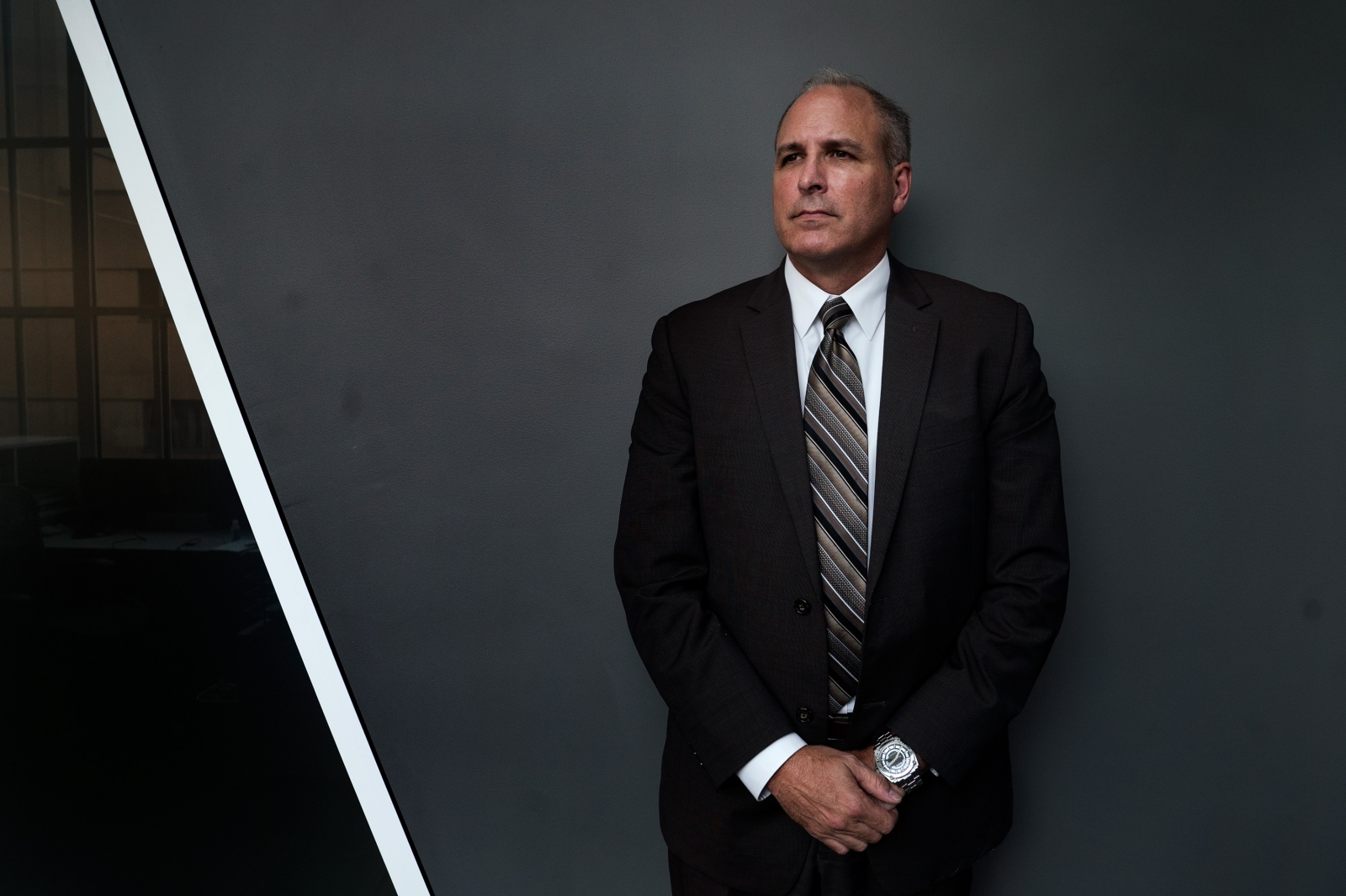Mark Morgan, the Acting Chief of Customs and Border Protection, stands for a portrait.
