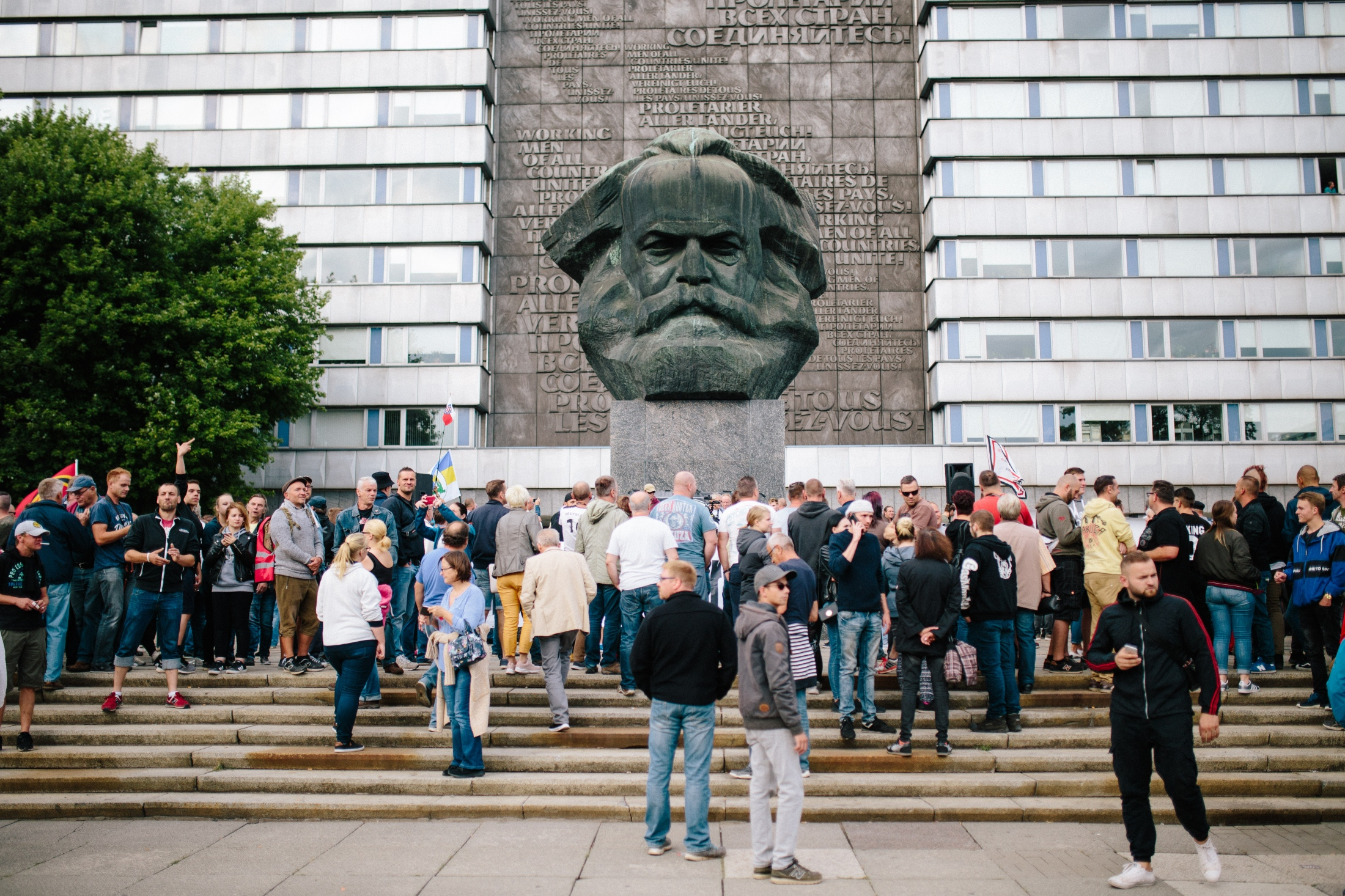 Karl-Marx-Monument, Chemnitz, August 28th 2018