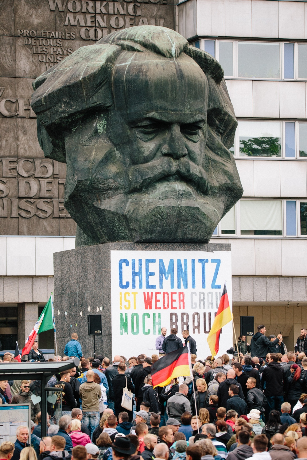 Karl-Marx-Monument, Chemnitz, September 1st 2018
