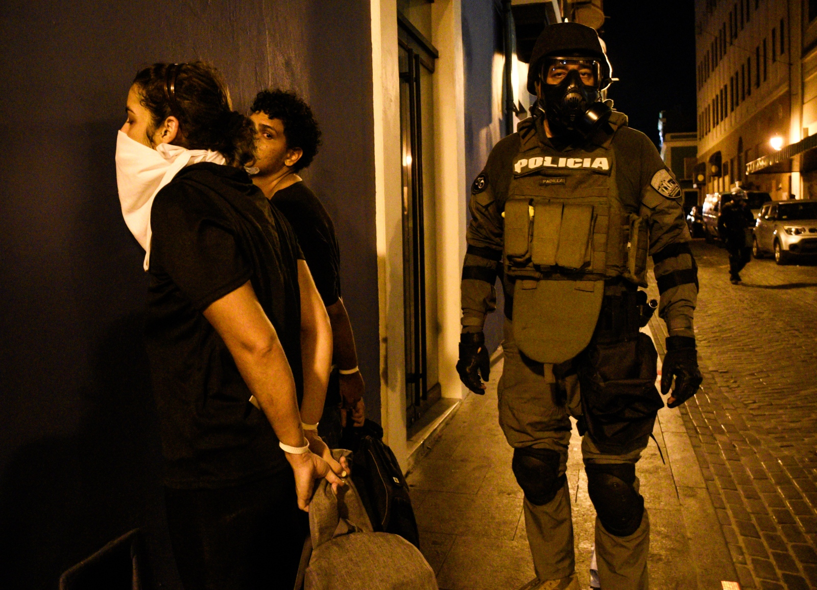 Police arrest demonstrators during the protests calling for the resignation of Governor of Puerto Rico, Ricardo Rosselló. Shot while on assignment for Reuters on July 17, 2019.
