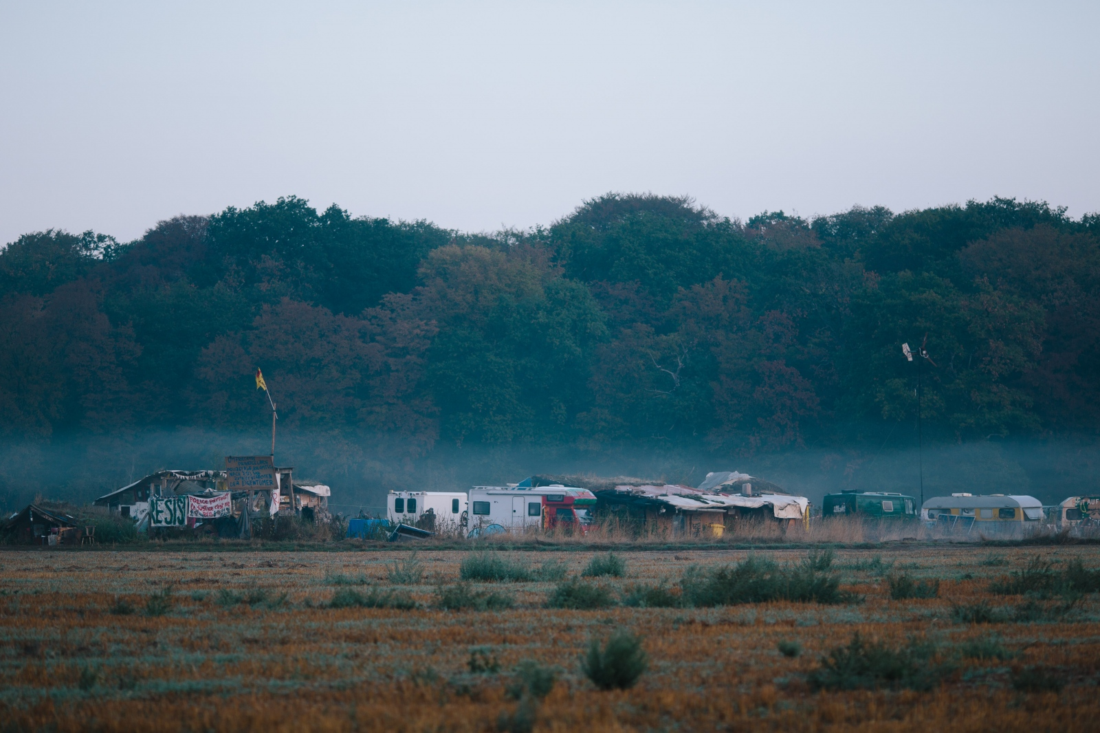 Camp near Hambach Forest. 09-14-2019