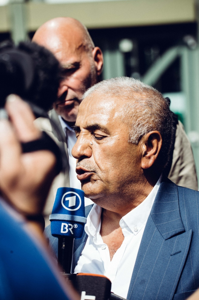 Ismail Yozgat, father of victim Halit Yozgat giving interviews on the day of the last hearings in the trial.