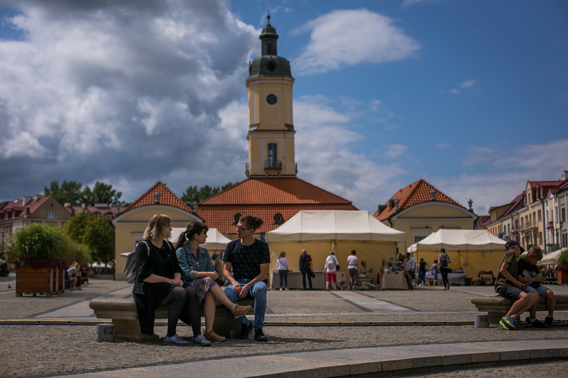 """Organizers of an L.G.T.B march in Bialystok, Poland. """"I don't want to leave this country, but I wonder if there is a place in Poland where I can feel safe,"""" said one. Bialystok, Poland 2019 The New York Times"""