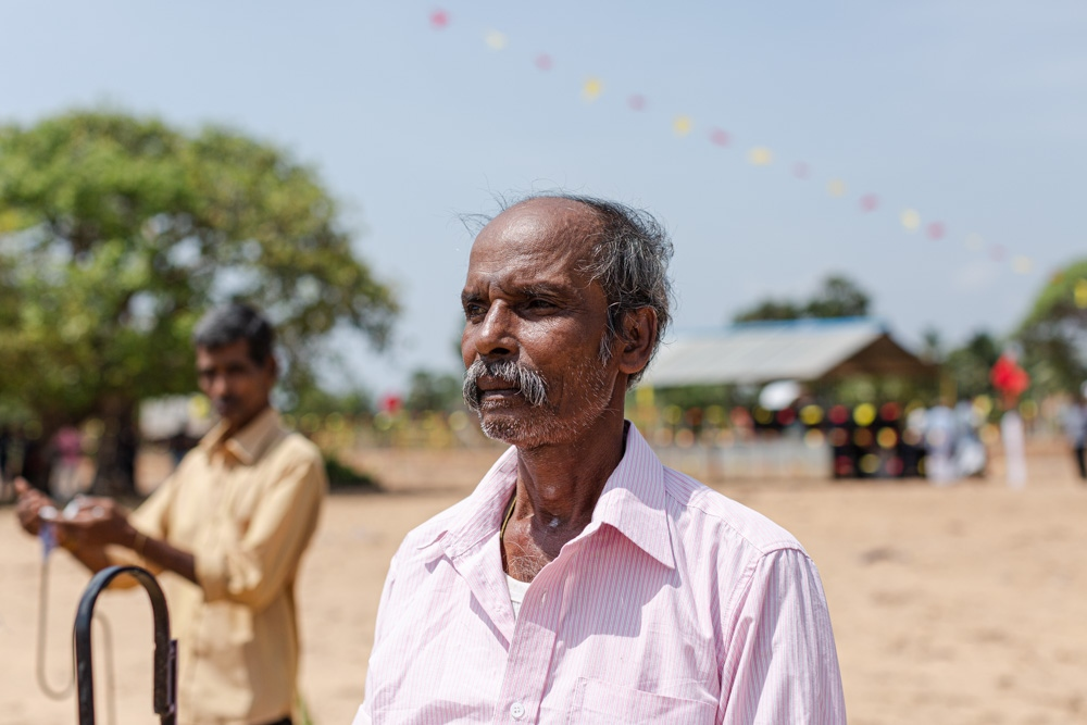 A mourner at Mullivaikkal Remembrance Day. (May, 2019)