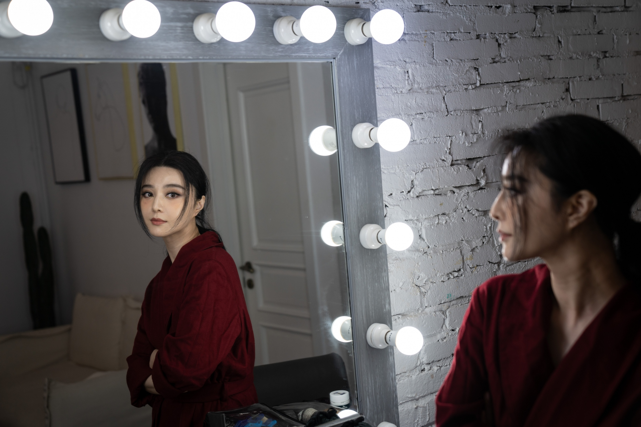 Actress Fan Bingbing poses for a portrait in Beijing, China, July, 2019. Read story