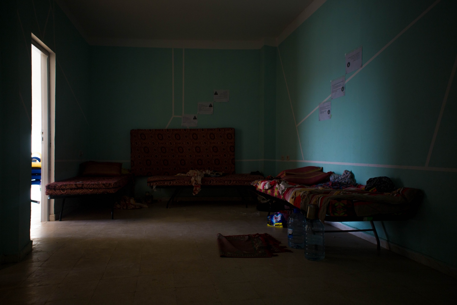 In this migrant shelter in Medenine, Tunisia, run by the Red Crescent and IOM, all were detained in Libyatheir home in Medenine, in southern Tunisia. isolation, deplorable food and health conditions