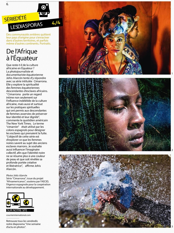 Courrier International De l'Afrique à l'Équateur. Des communautés entières quittent leur pays d'origine pour s'enraciner dans d'autres territoires, et parfois même d'autres continents. Portraits. 2019