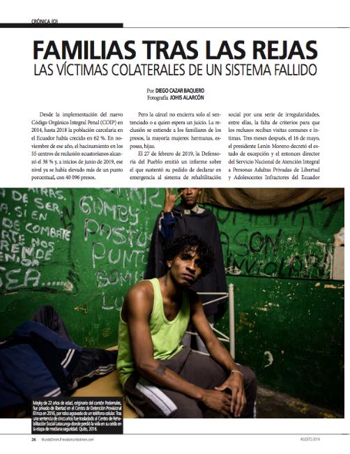 Mundo Diners Familias tras las rejas. Las víctimas colaterales de un sistema fallido. 2019