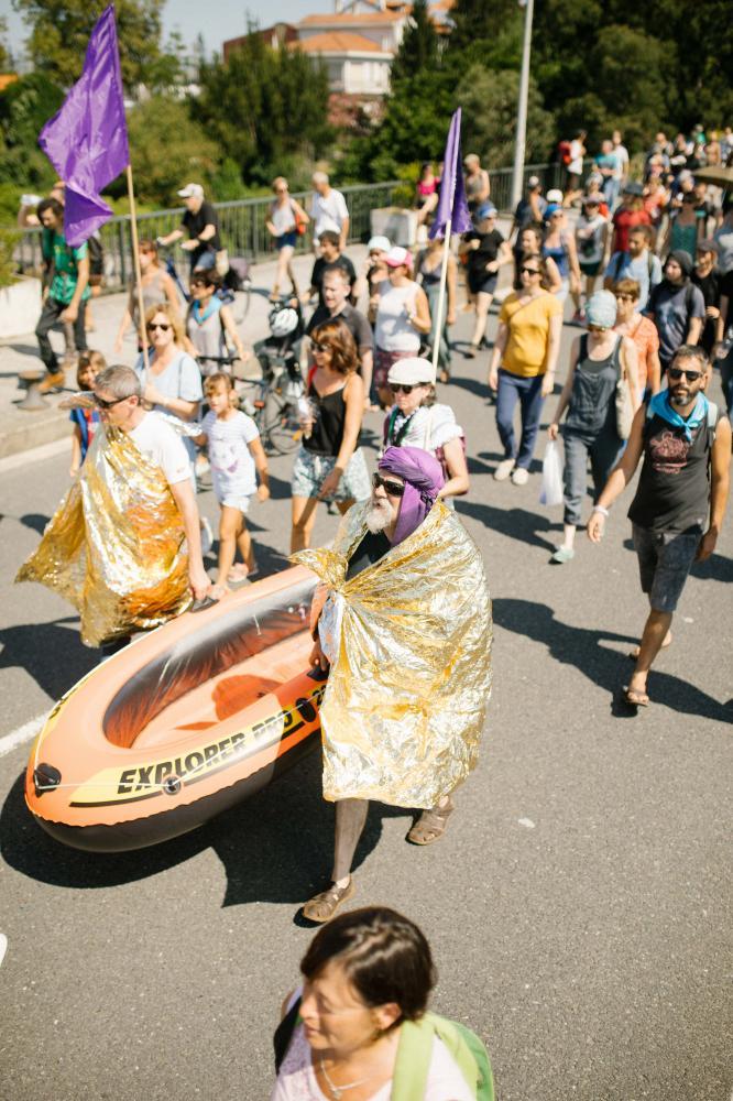 2019-08-24 - Mass demonstration in Hendaye opposing the politics of the G7.