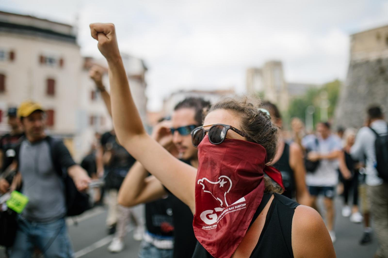 2019-08-24 - Spontaneous demonstration in Bayonne.