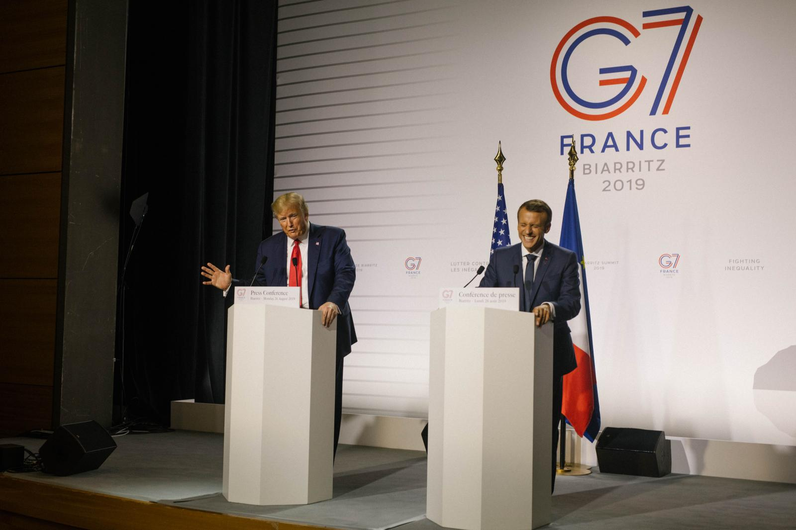 2019-08-25 - American president Donald Trump and French president Emmanuel Macron hold a joint press conference