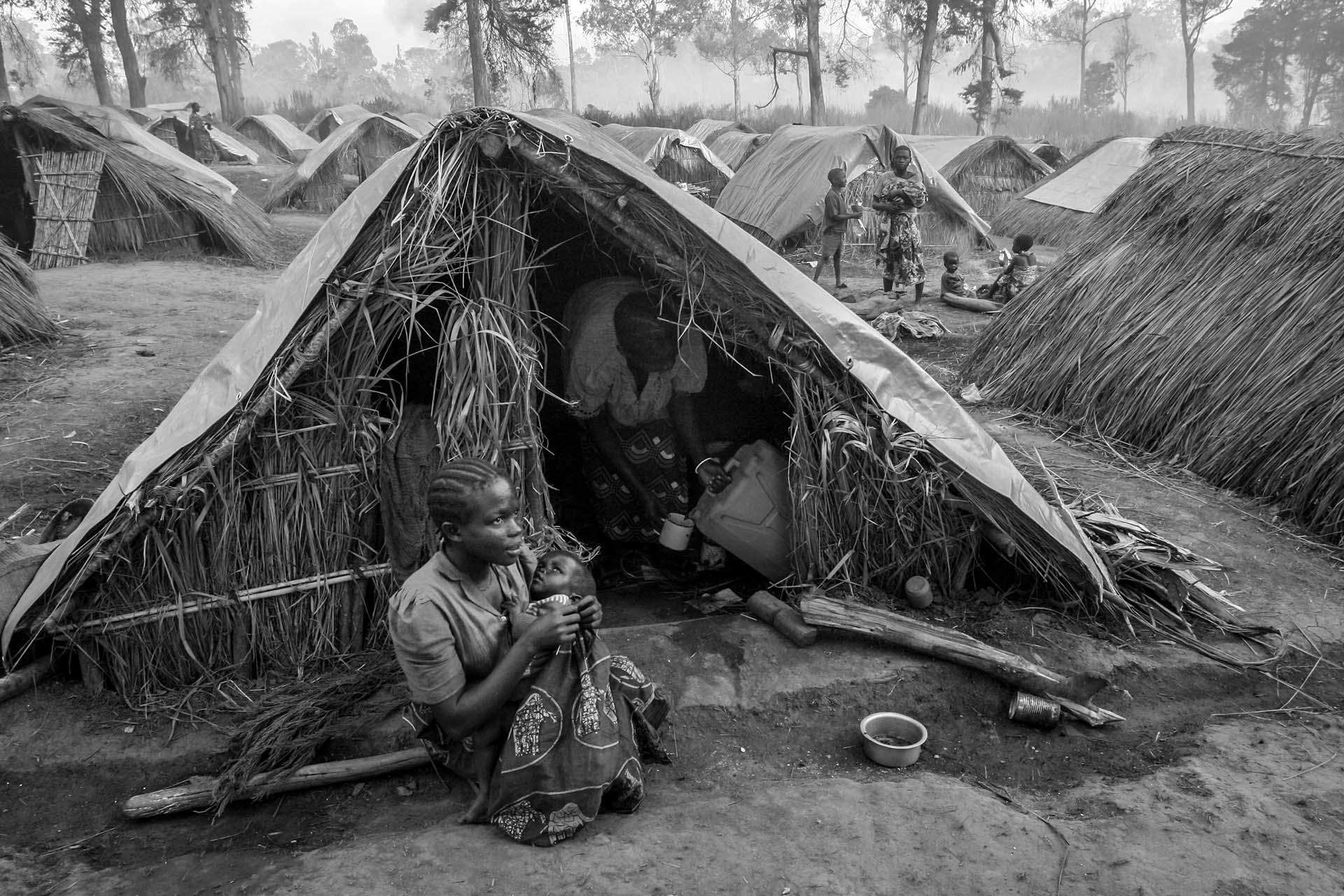 IDP camp sprang up quickly  after crashes between armed groups and government soldiers in the Village of Gety, 60km southwest of Bunia, regional capital of mineral-rich Ituri region in eastern DR Congo.