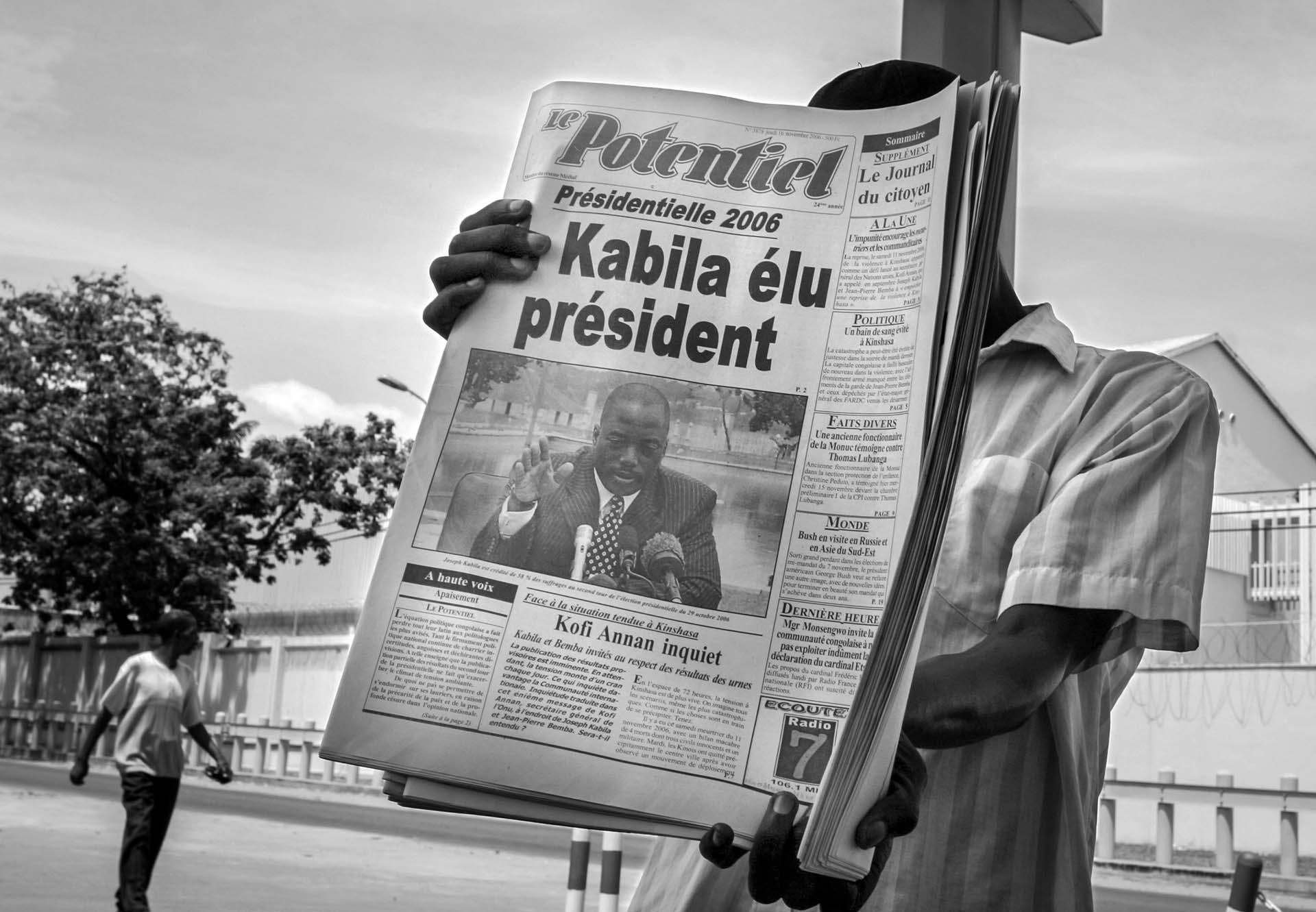 Joseph Kabila is announced as a winner of the presidential election.