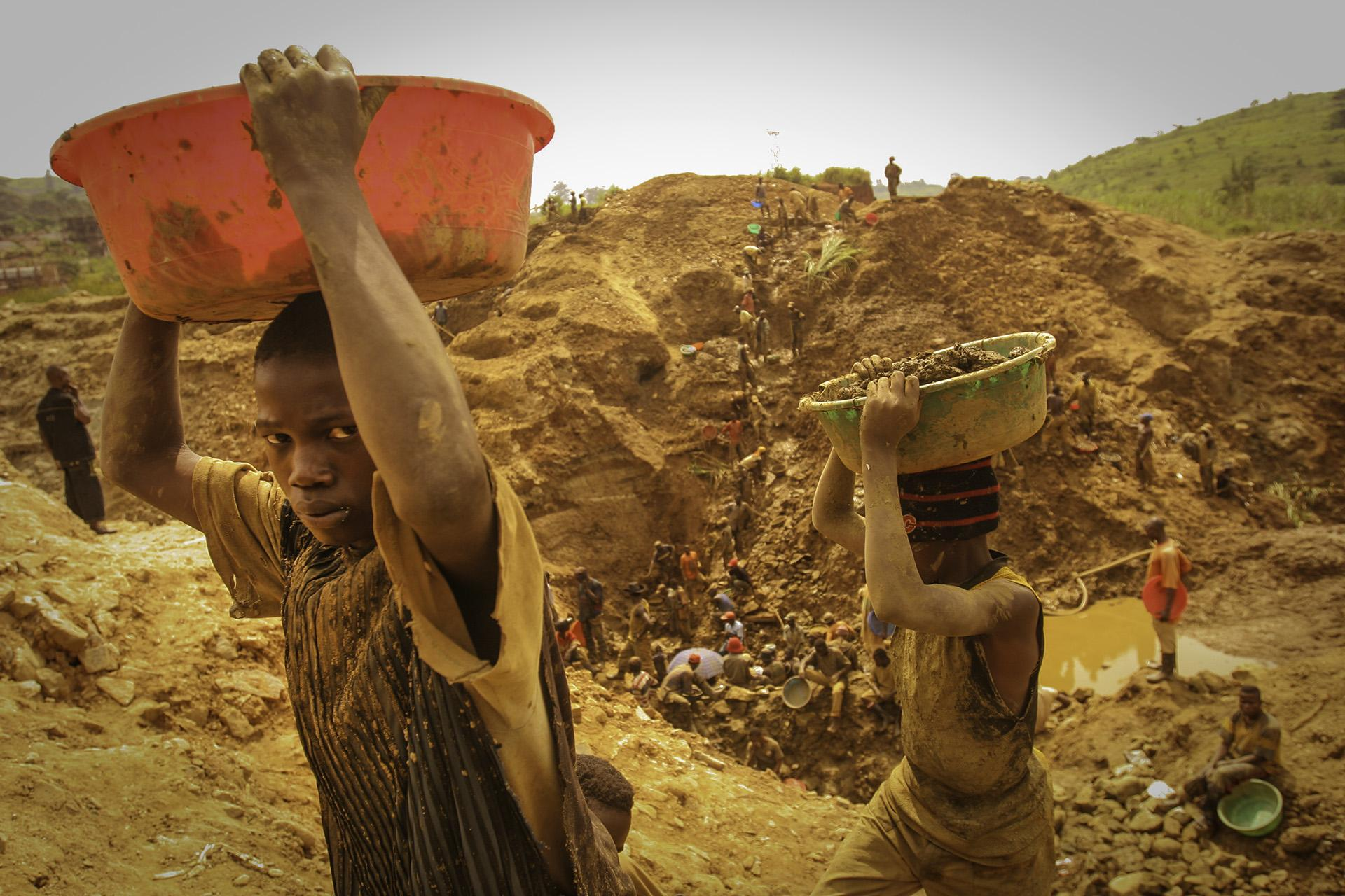 Many working at the gold mines in Ituri are children.