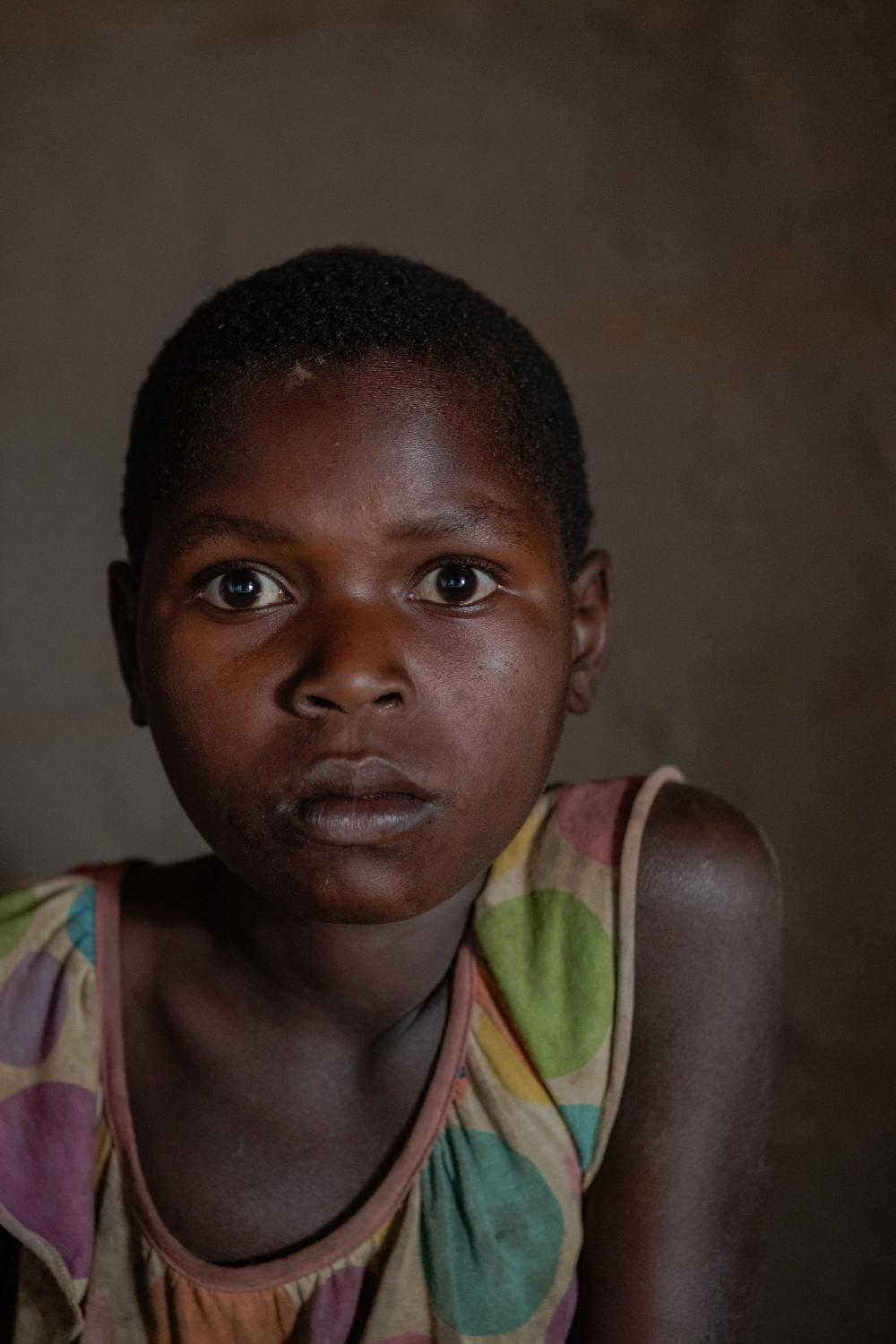 Lakica Barbara, 11 has been suffering from nodding syndrome since she was 4 years old.