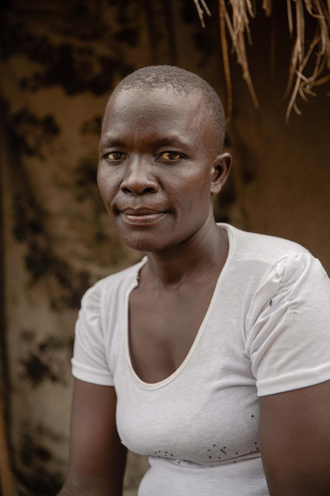 Angaika Kalisum, 33, from Morobu county in South Sudan currently a women representative in her village in Bidibidi refugee settlement, a role through which she reaches out to women and offers counselling services. For Norwegian Refugee Council.