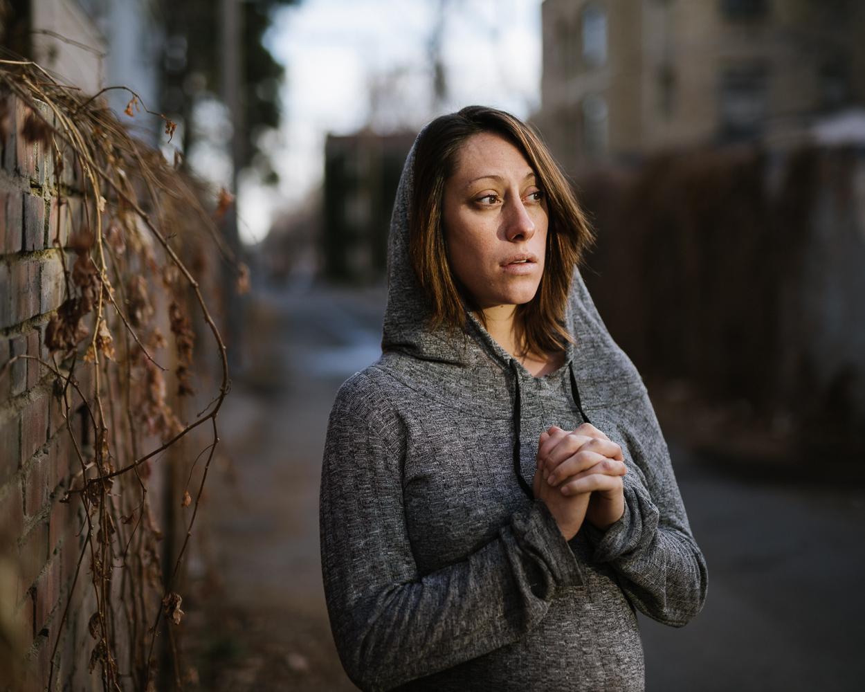 Angeline I'm 29, pregnant, alone, and homeless. I am living my fear.