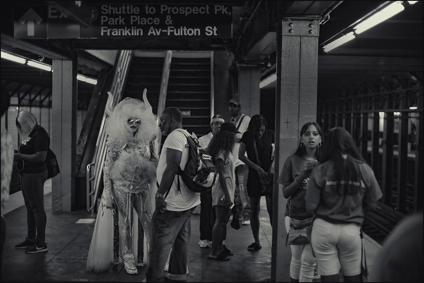 Franklin Avenue station,West Indian American Day celebrations,Brooklyn,NYC.September 2019.