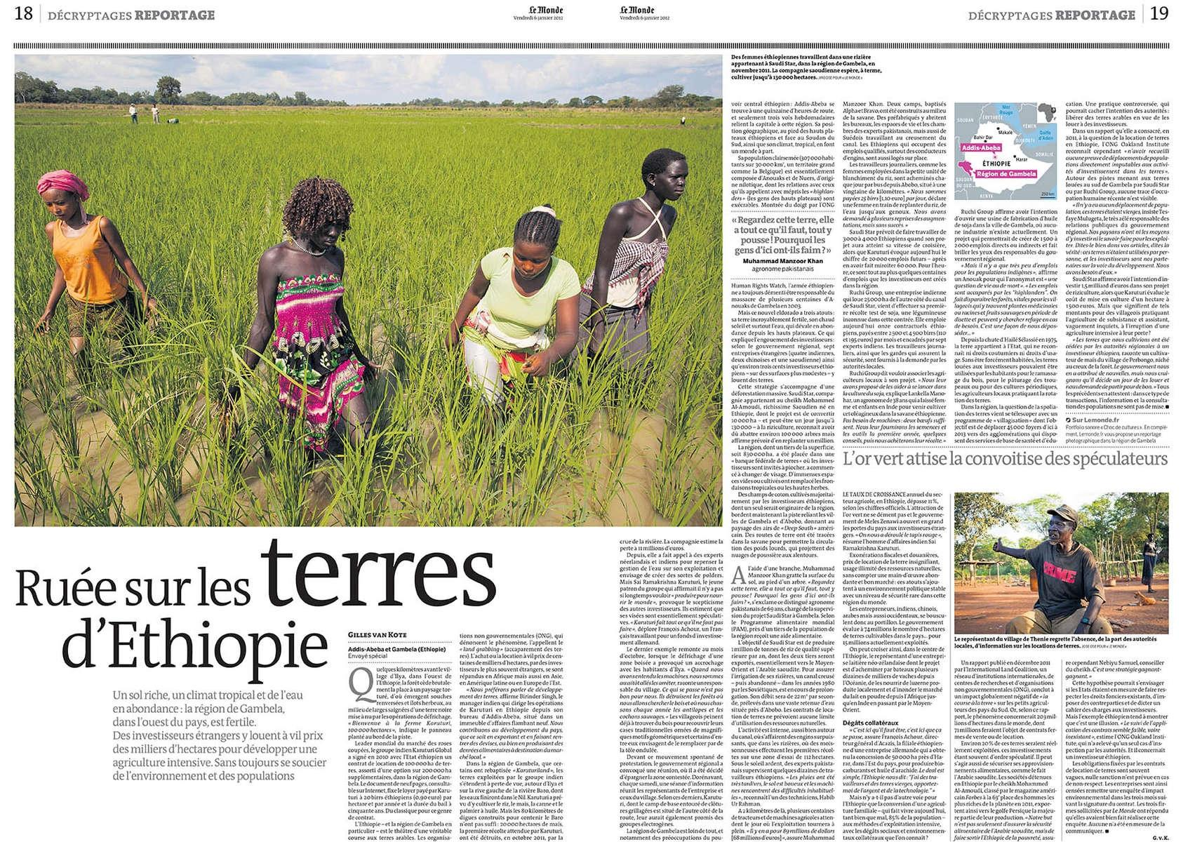 Le Monde, Land Grabbing in Africa