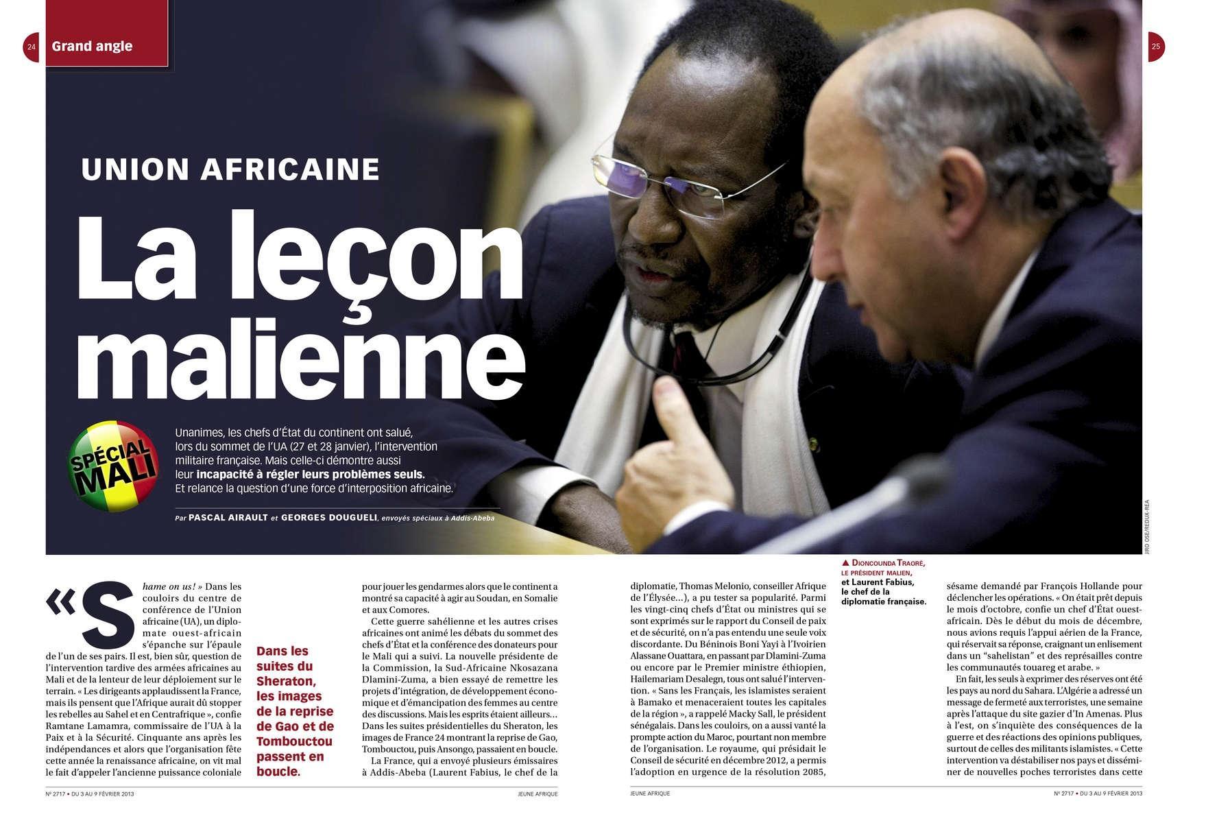 Jeune Afrique, African Union