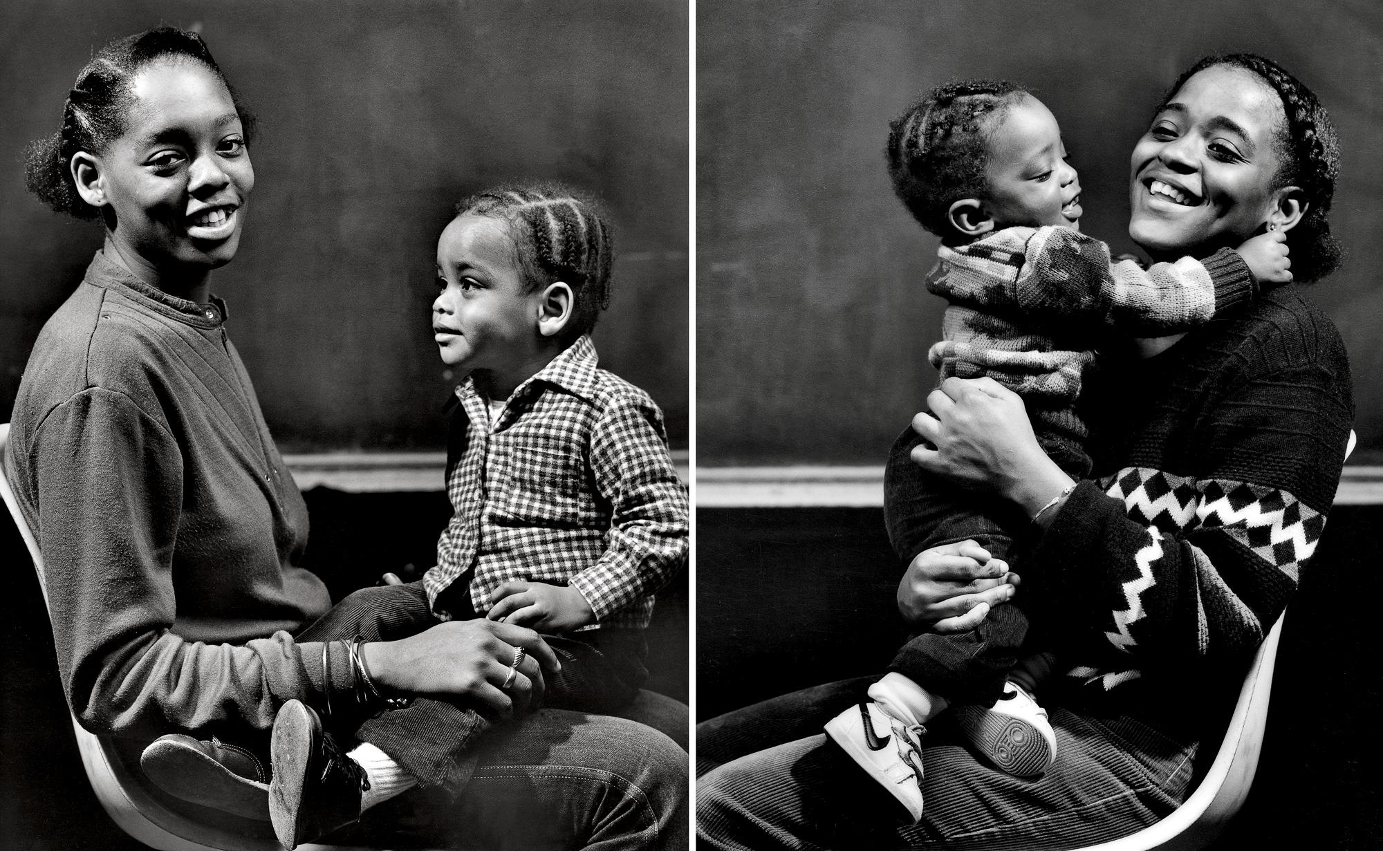 Teen mothers, children, Ford Foundation N.Y.