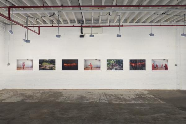 Installation shot of Tatsuniya at Red Hook labs and Nataal: New African Photography III group exhibition, Brooklyn, NY, 2018