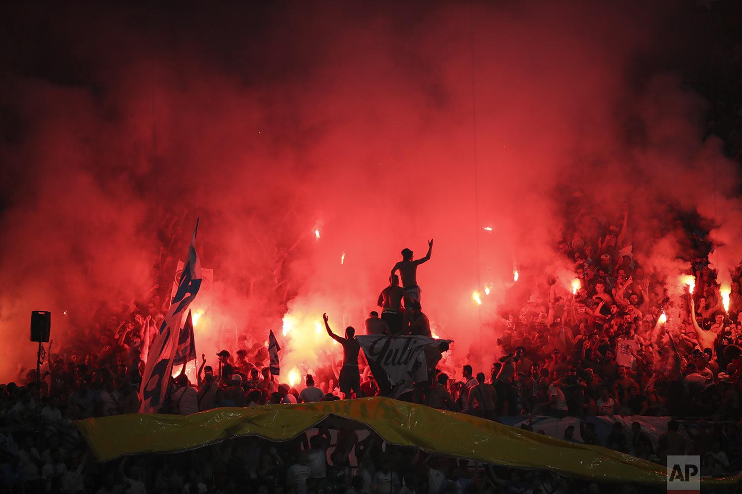 Olympique de Marseille supporters, 2019.