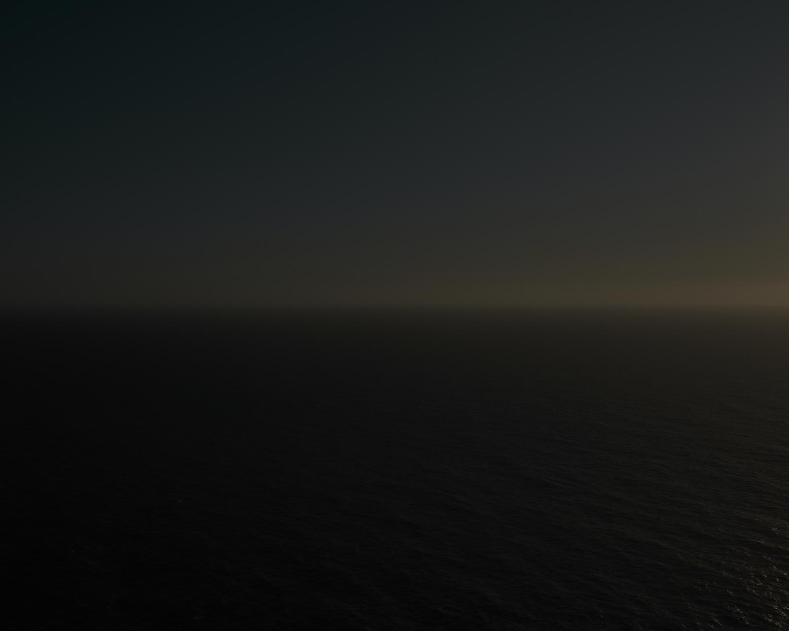 A wide view of a sunset in the Atlantic Ocean. Only in 2019, there are almost 640 confirmed deads caused by boats in distress who were trying to reach Europe.
