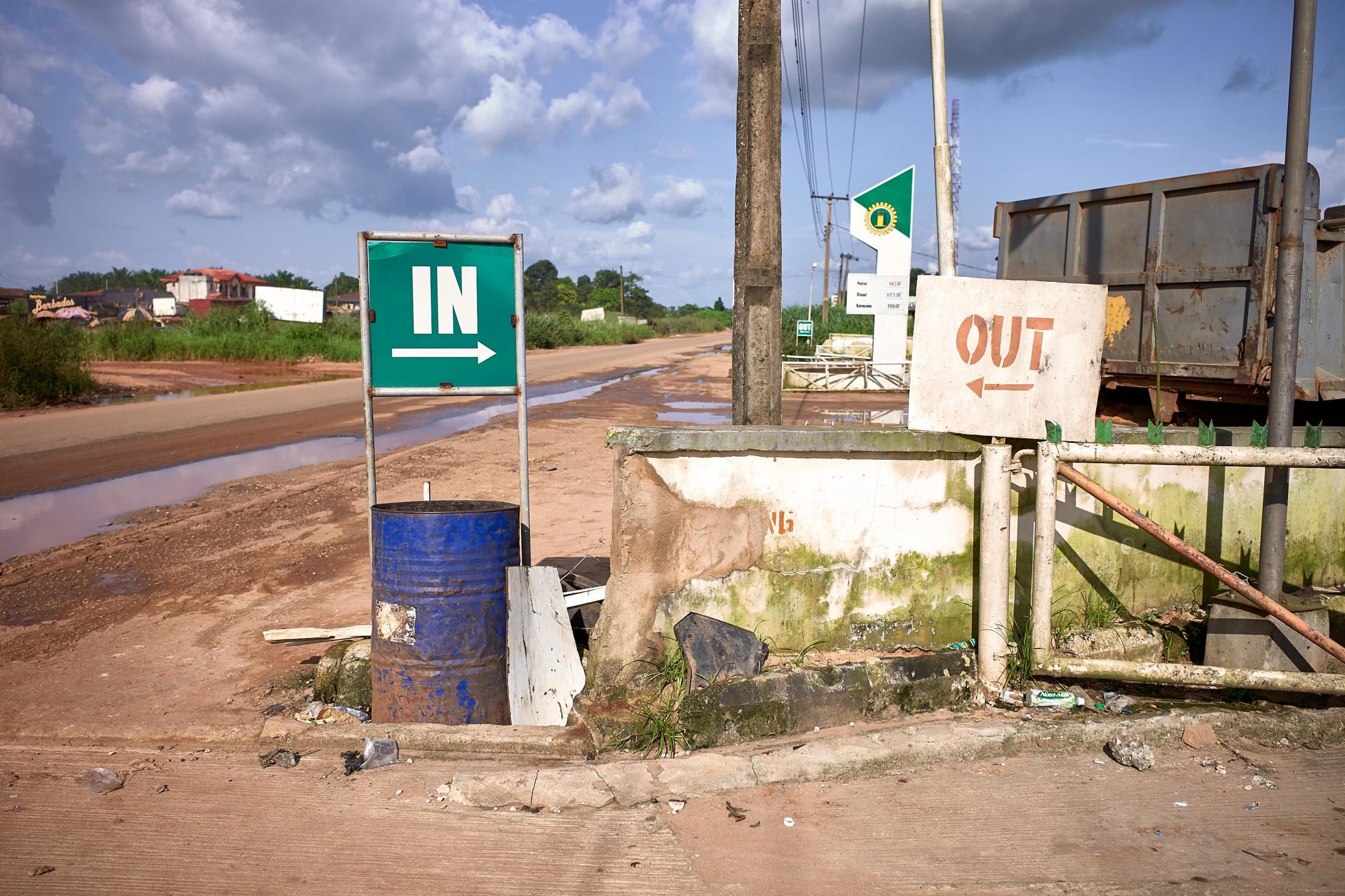 in and out, lagos-benin expressway, nigeria.