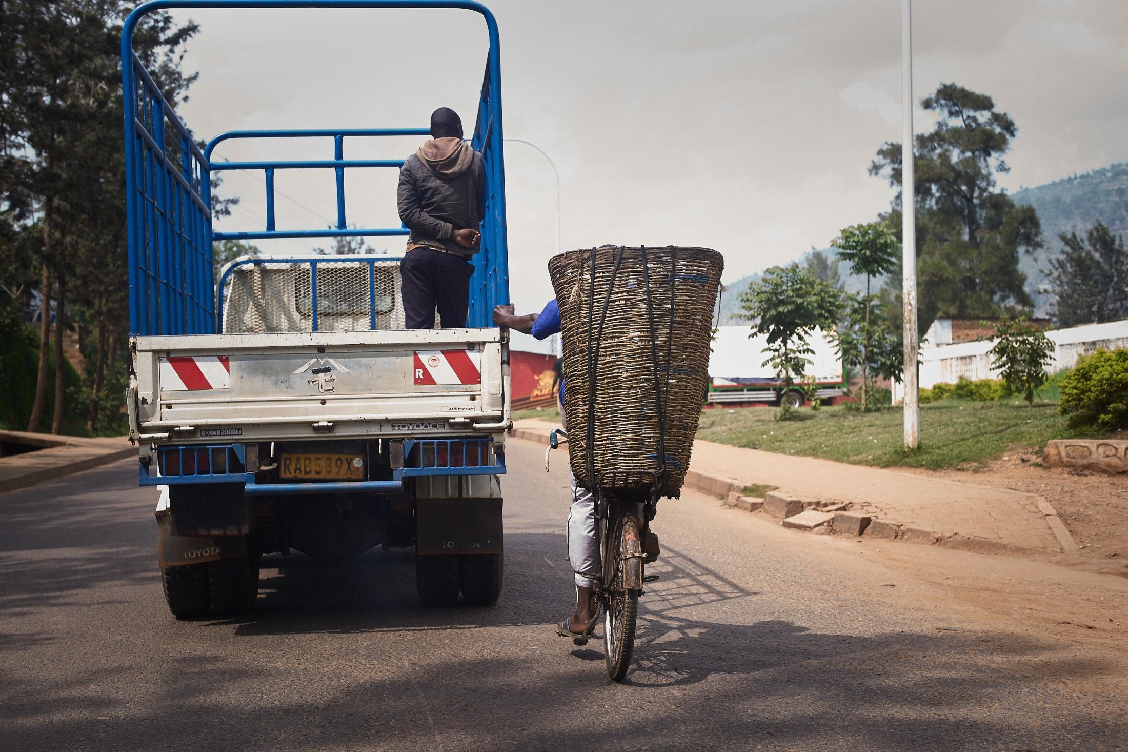 a basket full of the unknown, kigali, rwanda.