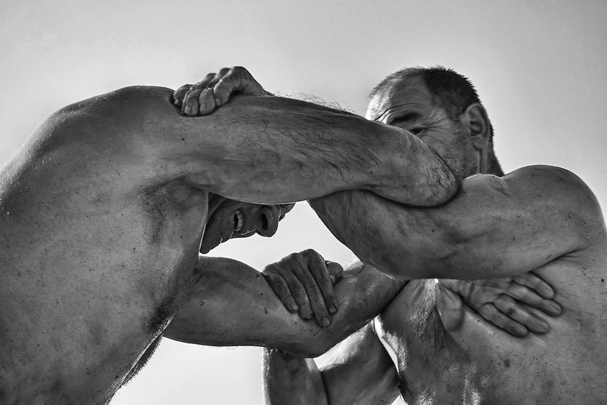 Photography image - The oil wrestling, Izmir, Turkey