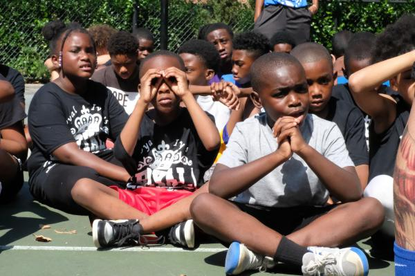 Royal Ivey basketball clinic, St. Albans, NY