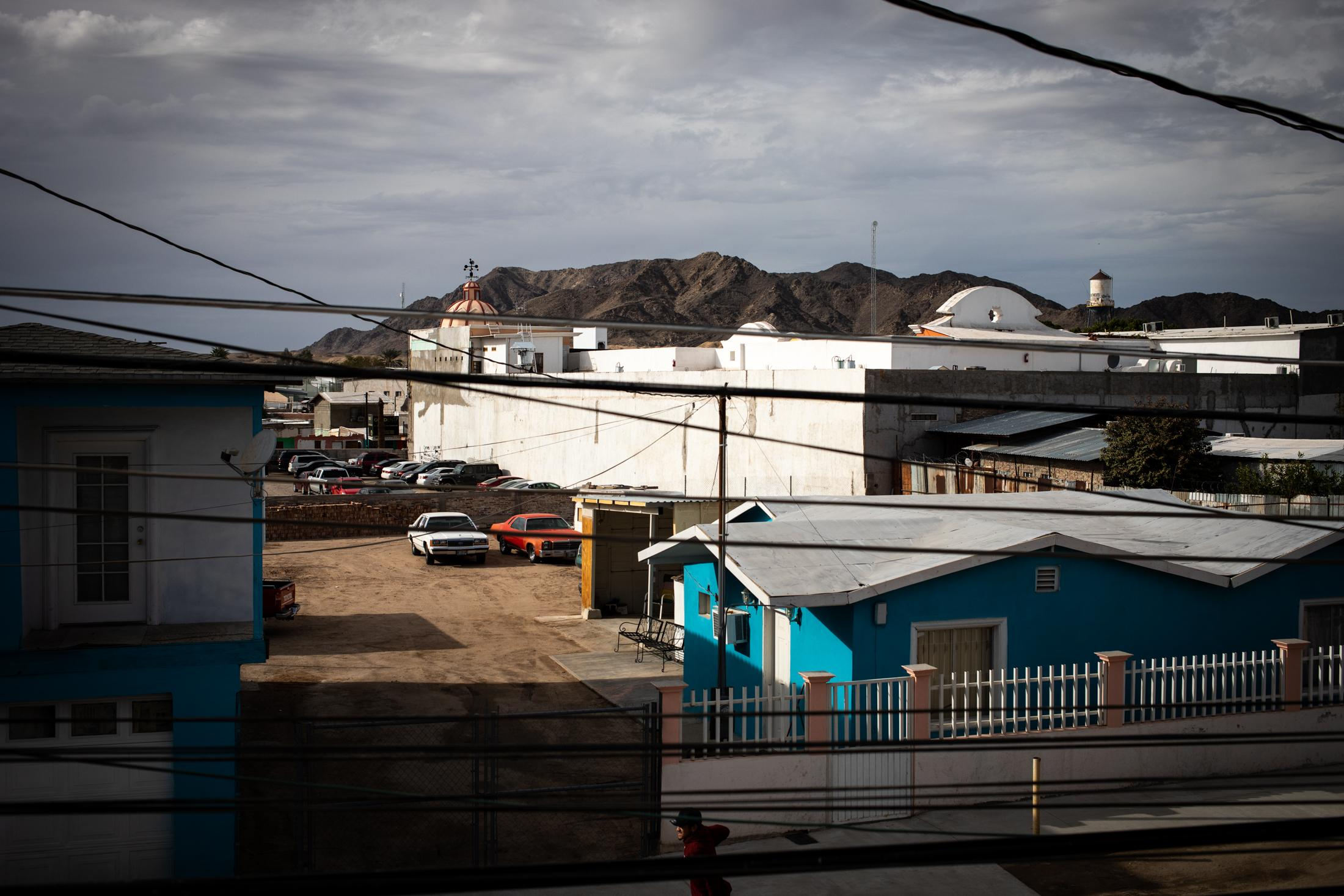 A view of Los Algodones, Baja California. The town is right on the US-Mexican border, just 7 miles from Yuma, Arizona.