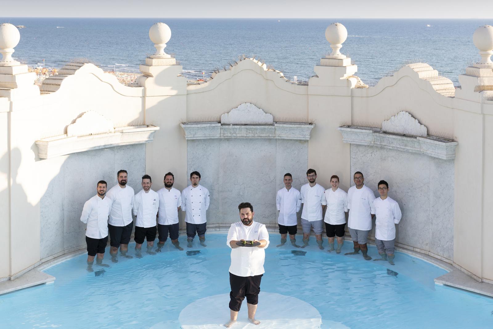 Gruppo team Piccolo Principe di Viareggio - Chef Giuseppe Mancino