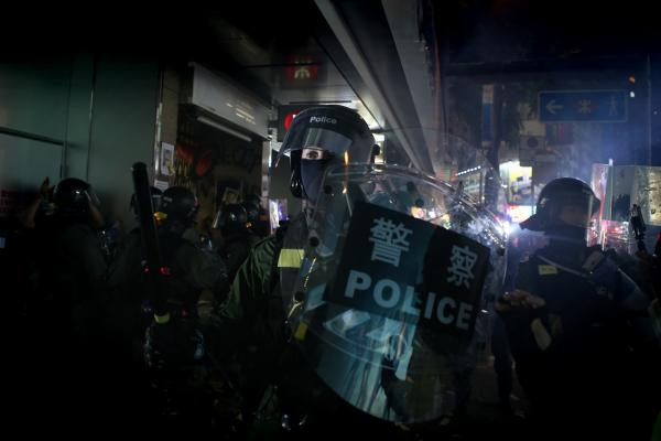Protests in Hong Kong during National Day of the People's Republic of China