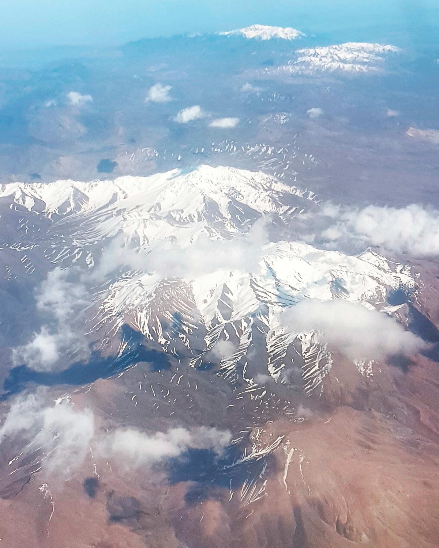 #aerialview #snowy #peaks