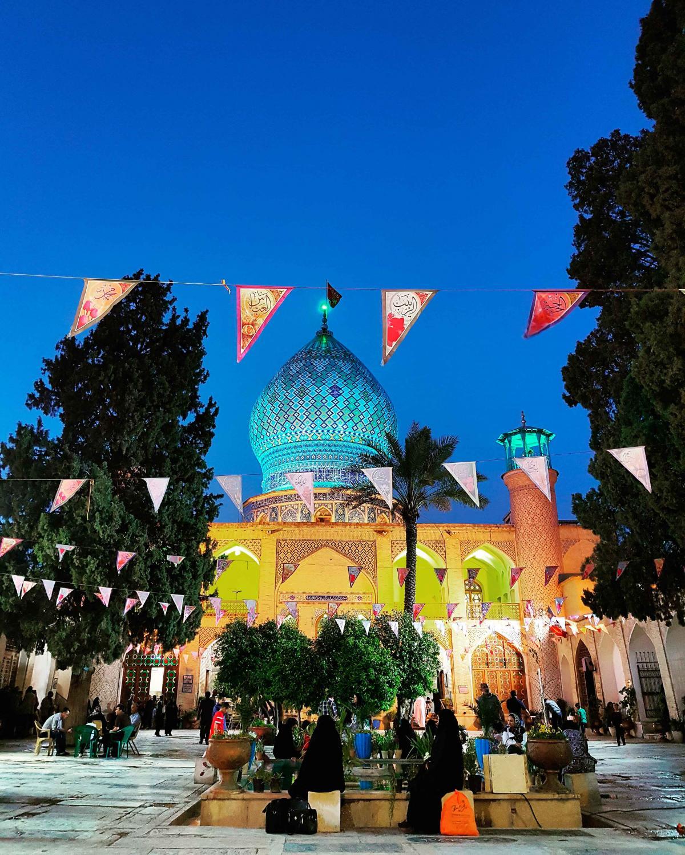 #call to #evening #prayer #hajabbas #mosque #shiraz
