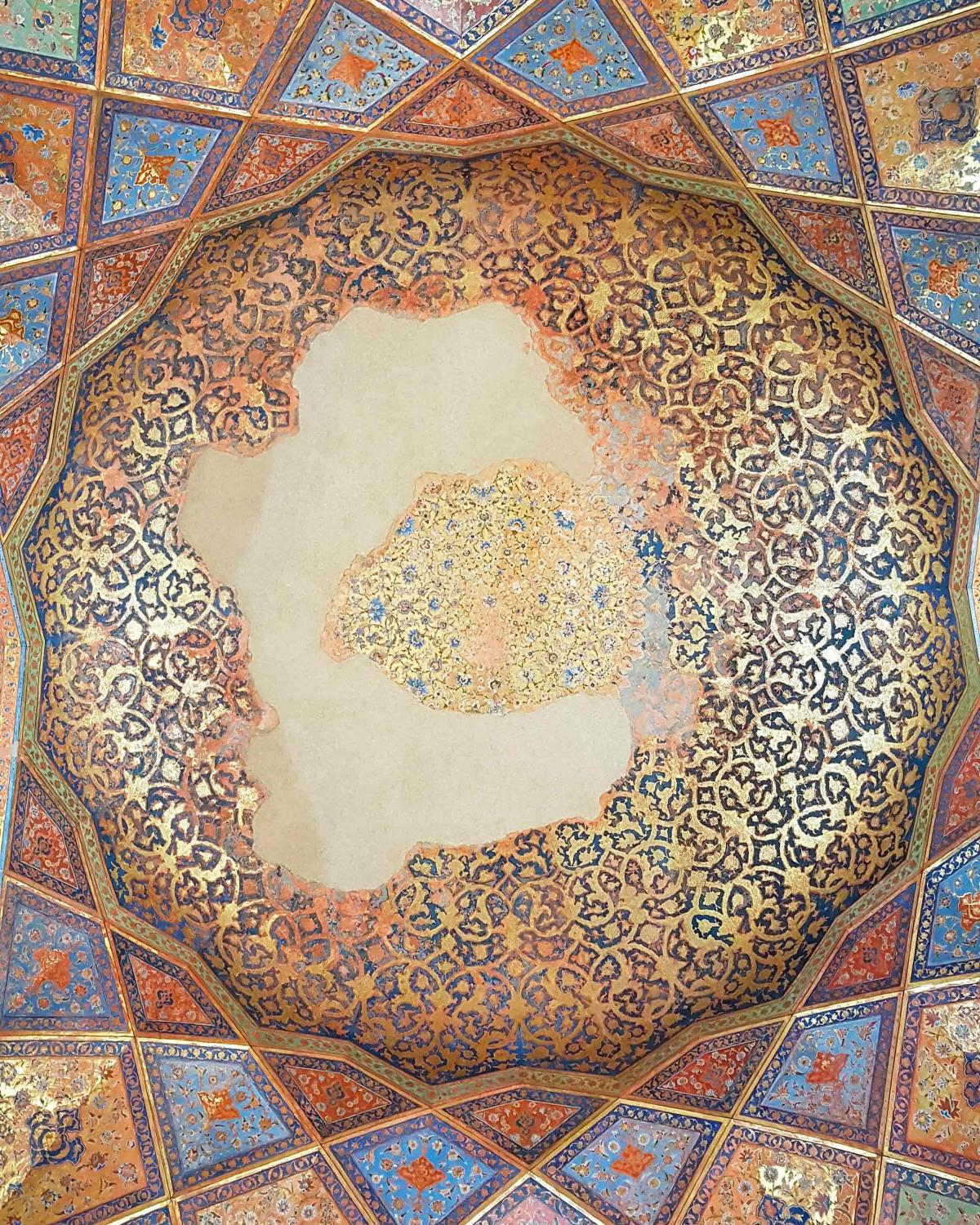 "detail, #hasht behesht #palace, #isfahān literally meaning ""the eight heavens"" in persian, the 17th-century pavilion was built by order of suleiman I, the eighth shah of iran's safavid empire."