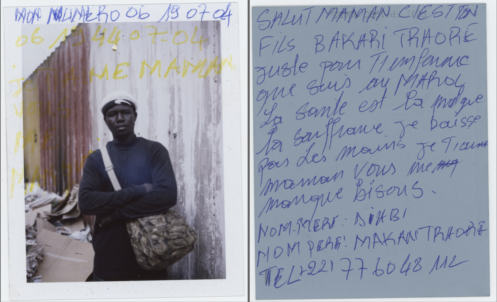 My Number 06190704 0619440704 Hello mom, it's me. Bakari Traore. I just wanted to tell you that I'm ok here in Morocco. I'm healthy besides the suffering. I'm not giving up. I love you mom, miss you all. Kisses