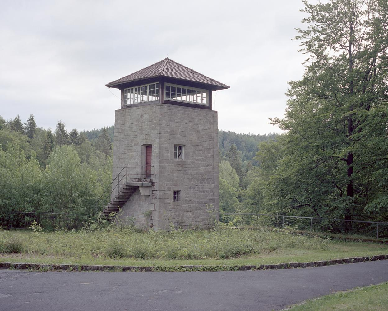 Germany, Flossemburg. A tower of the Flossemburg Concentration Camp. Around 100000 people were imprisoned in the camp. Among the death prisoners there was Eugenio Pertini, brother of Sandro Pertini that in 1978 became the President of Italy.