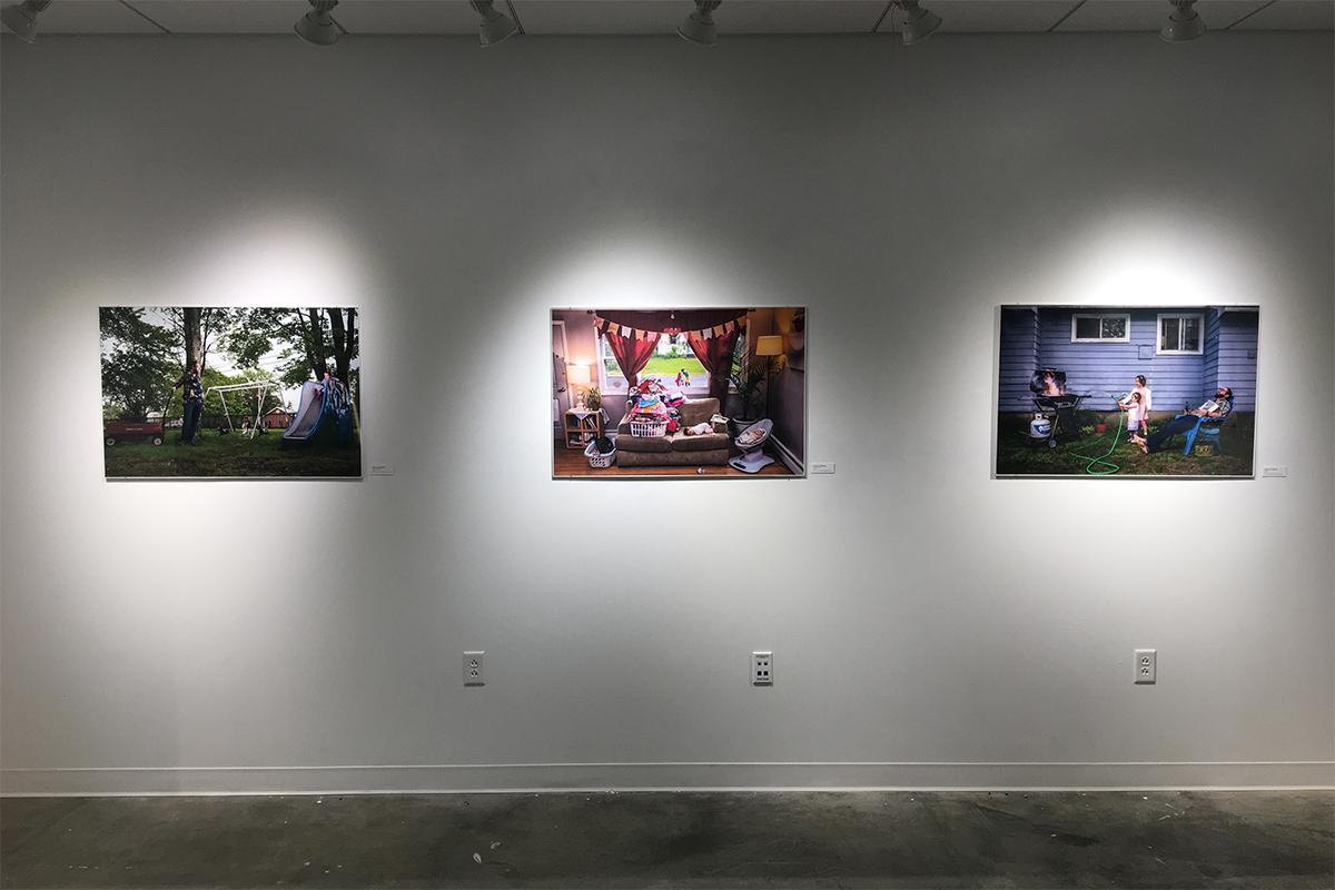 Installation view in the Snyder Gallery at Marlboro College.