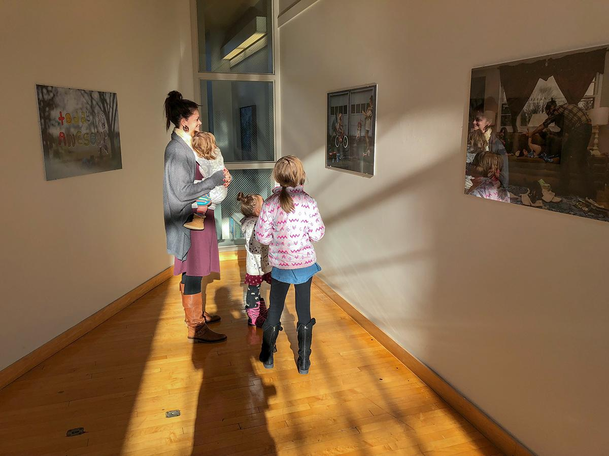 Family portrait at the Grubbs Gallery in Easthampton, MA.