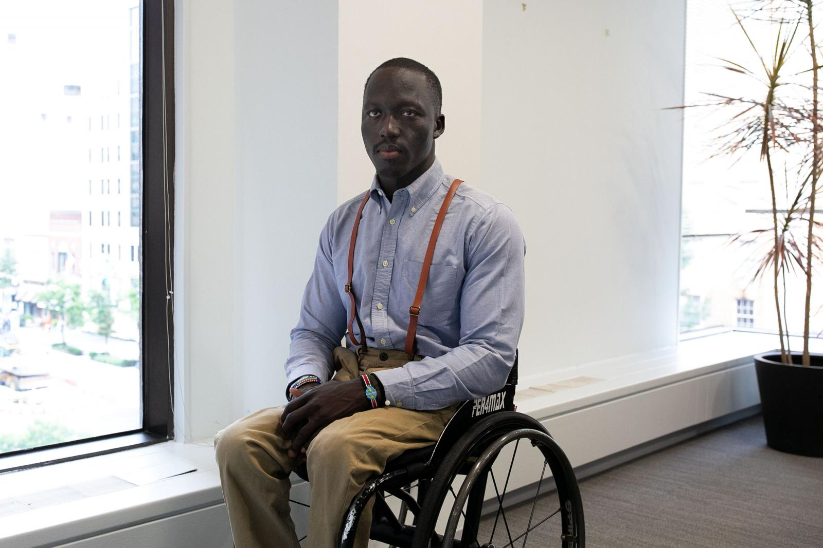 Wheelchair basketball player, Malat Lueth Wei, 25, is featured in the short documentary  No Limits about bringing the sport to South Sudan.
