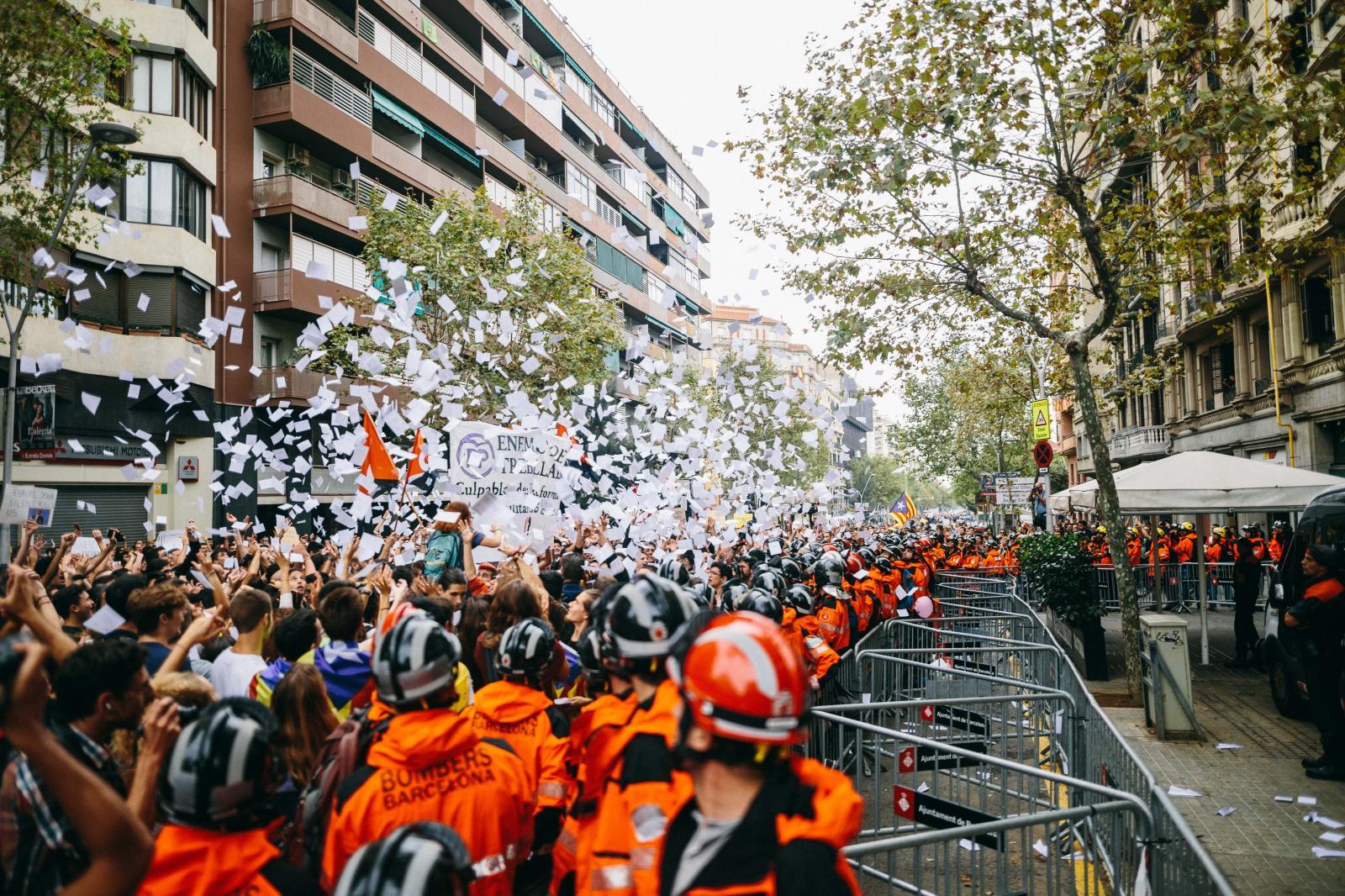 General Strike in Barcelona demanding Independence. October 3rd, 2017