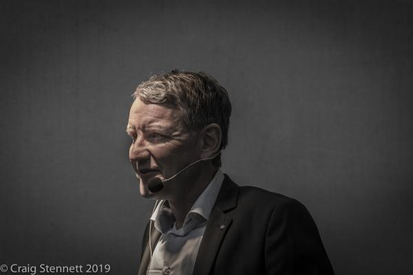 Björn Höcke of the AfD takes the stage at the 'Family Festival' political rally at Gotha in Thuringia, Germany.