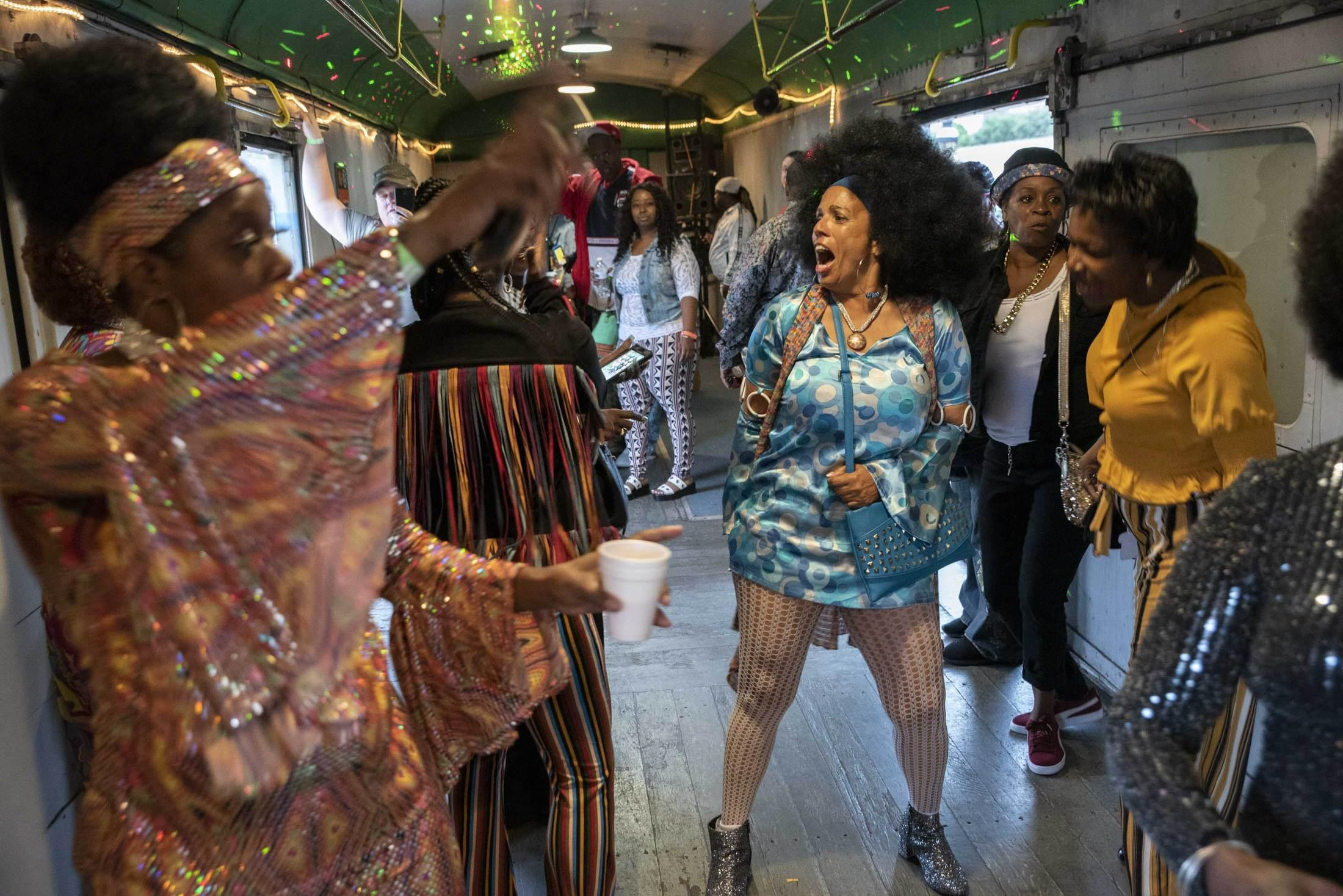 People travel from across the states for the Soul Train in Utica, NY. The four hour train ride includes food, a bar, and DJ car.